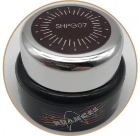 Nuances - SHPG007 - SOAK OFF HIGH PIGMENT GEL PASTE - colore MARRONE 5gr